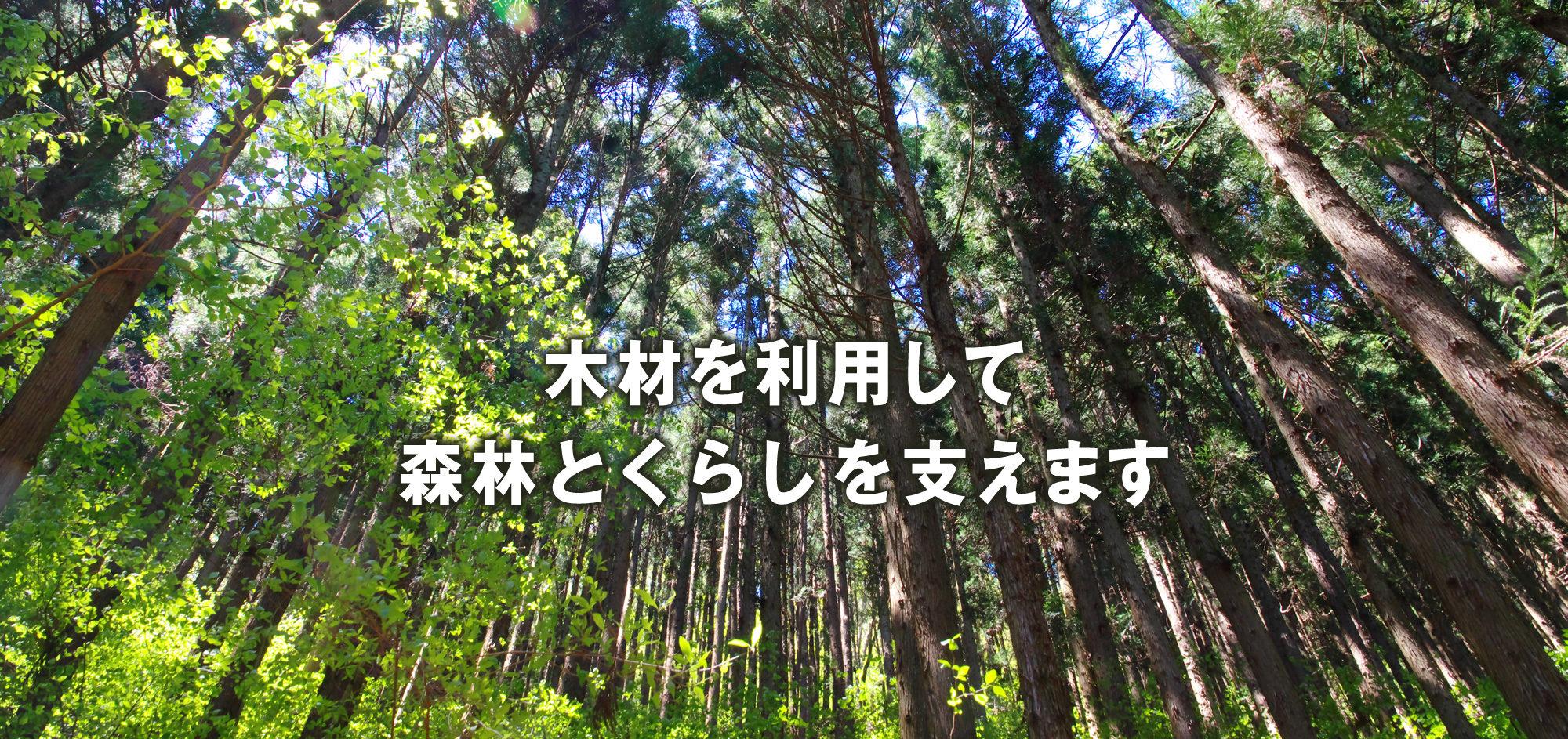 木材を利用して森林とくらしを支えます